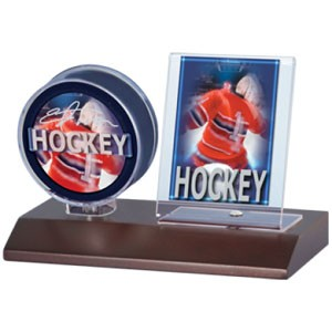 Dark Wood Puck and Card Holder 36ct (1cs)