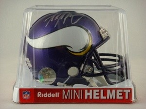 Adrian Peterson Autographed Minnesota Vikings Replica Mini Helmet