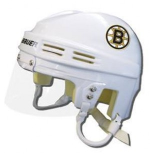 Boston Bruins Away Authentic Mini Helmet