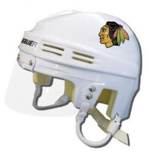 Chicago Blackhawks Away Authentic Mini Helmet
