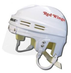 Detroit Red Wings Away Authentic Mini Helmet