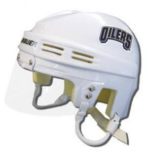 Edmonton Oilers Away Authentic Mini Helmet