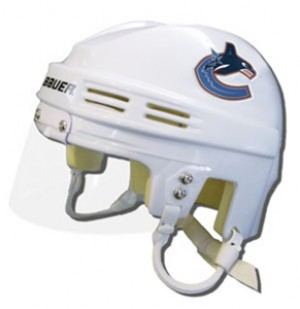 Vancouver Canucks Away Authentic Mini Helmet