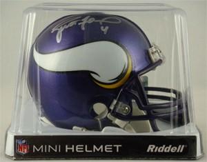 Brett Favre Autographed Minnesota Vikings Replica Mini Helmet