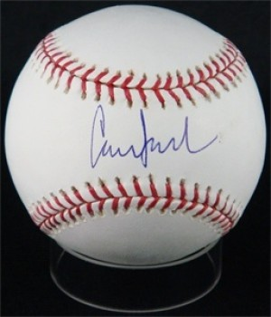Conor Jackson Signed Rawlings Official Major League Baseball
