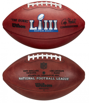 Wilson Super Bowl 53 NFL Roger Goodell The Duke Official Game Football