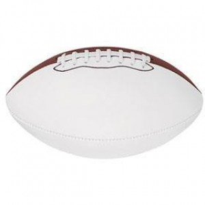 Signature Series 3 White Panel Generic Football (Deflated)