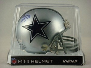 Felix Jones Autographed Dallas Cowboys Replica Mini Helmet
