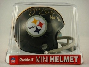 Jack Lambert Autographed Pittsburgh Steelers 1963-1976 Throwback Replica Mini Helmet