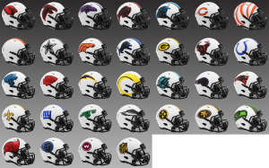 Limited Edition NFL Lunar 2021 Riddell Mini Speed Helmets