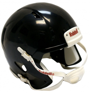 Riddell Black Blank Customizable Speed Mini Football Helmet Shell