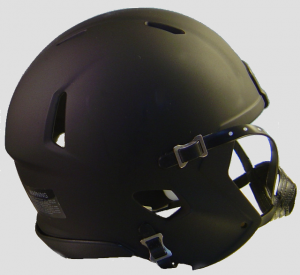 Riddell Matte Black with Black Parts Blank Customizable Speed Mini Football Helmet Shell
