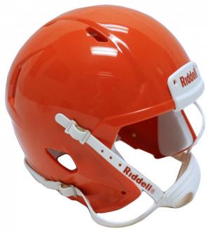Riddell Orange Blank Customizable Speed Mini Football Helmet Shell