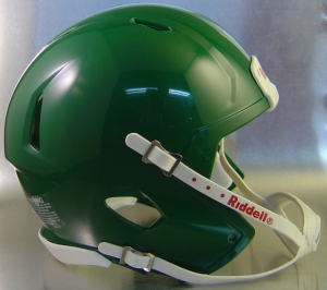 Riddell Kelly Green Blank Customizable Speed Mini Football Helmet Shell