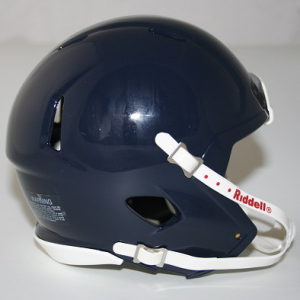 Riddell Navy Metallic Blank Customizable Speed Mini Football Helmet Shell