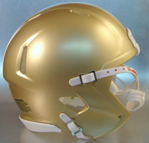 Riddell South Bend Gold Blank Customizable Speed Mini Football Helmet Shell