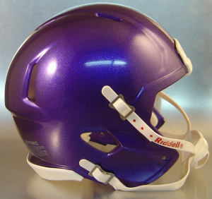 Riddell Purple Metallic Blank Customizable Speed Mini Football Helmet Shell