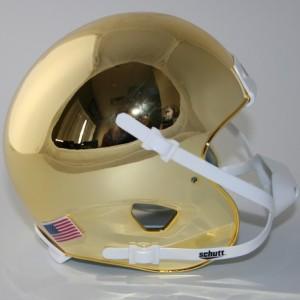 Schutt Gold Chrome Blank Customizable XP Authentic Mini Football Helmet Shell
