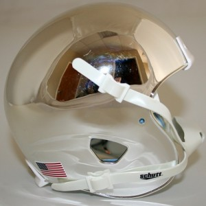 Schutt Silver Chrome Blank Customizable XP Authentic Mini Football Helmet Shell