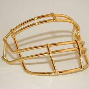 Schutt Gold Chrome Customizable XP Authentic Mini Football Facemask