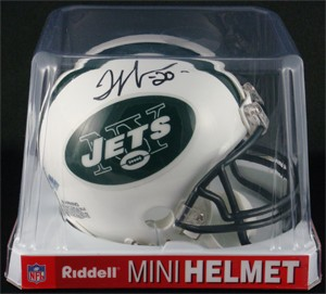 Thomas Jones Autographed New York Jets Replica Mini Helmet
