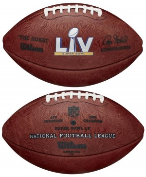 Wilson Super Bowl 55 NFL Roger Goodell The Duke Official Game Football