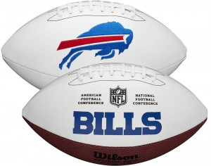 Buffalo Bills White Wilson Official Size Autograph Series Signature Football