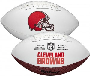 Cleveland Browns White Wilson Official Size Autograph Series Signature Football