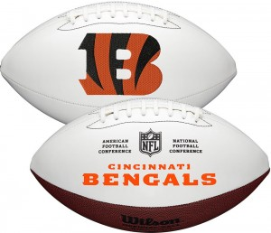 Cincinnati Bengals White Wilson Official Size Autograph Series Signature Football