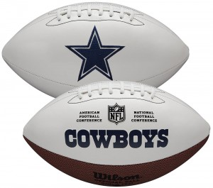Dallas Cowboys White Wilson Official Size Autograph Series Signature Football