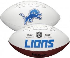 Detroit Lions White Wilson Official Size Autograph Series Signature Football