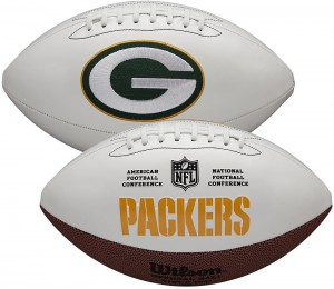 Green Bay Packers White Wilson Official Size Autograph Series Signature Football