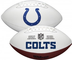 Indianapolis Colts White Wilson Official Size Autograph Series Signature Football