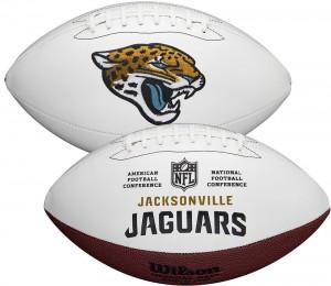 Jacksonville Jaguars White Wilson Official Size Autograph Series Signature Football