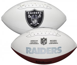 Las Vegas Raiders White Wilson Official Size Autograph Series Signature Football
