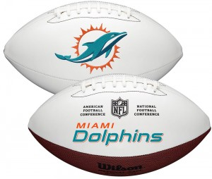 Miami Dolphins White Wilson Official Size Autograph Series Signature Football