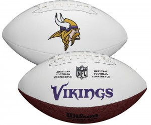 Minnesota Vikings White Wilson Official Size Autograph Series Signature Football