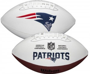 New England Patriots White Wilson Official Size Autograph Series Signature Football