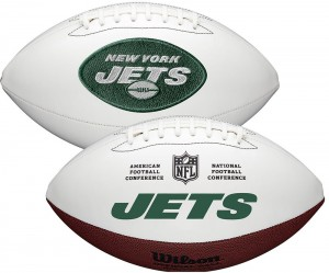 New York Jets White Wilson Official Size Autograph Series Signature Football