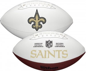 New Orleans Saints White Wilson Official Size Autograph Series Signature Football