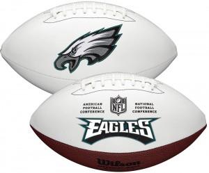 Philadelphia Eagles White Wilson Official Size Autograph Series Signature Football