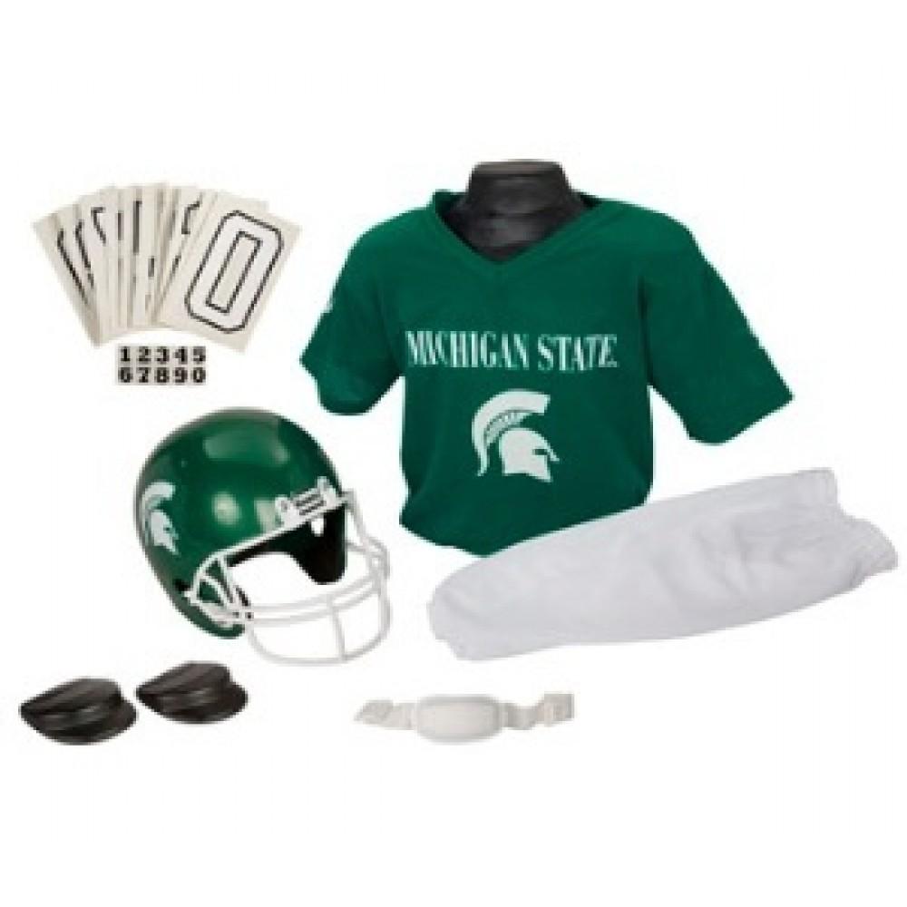 the latest b9341 806b0 Michigan St Spartans Kids (Ages 7-9) Medium Replica Deluxe Uniform Set ...