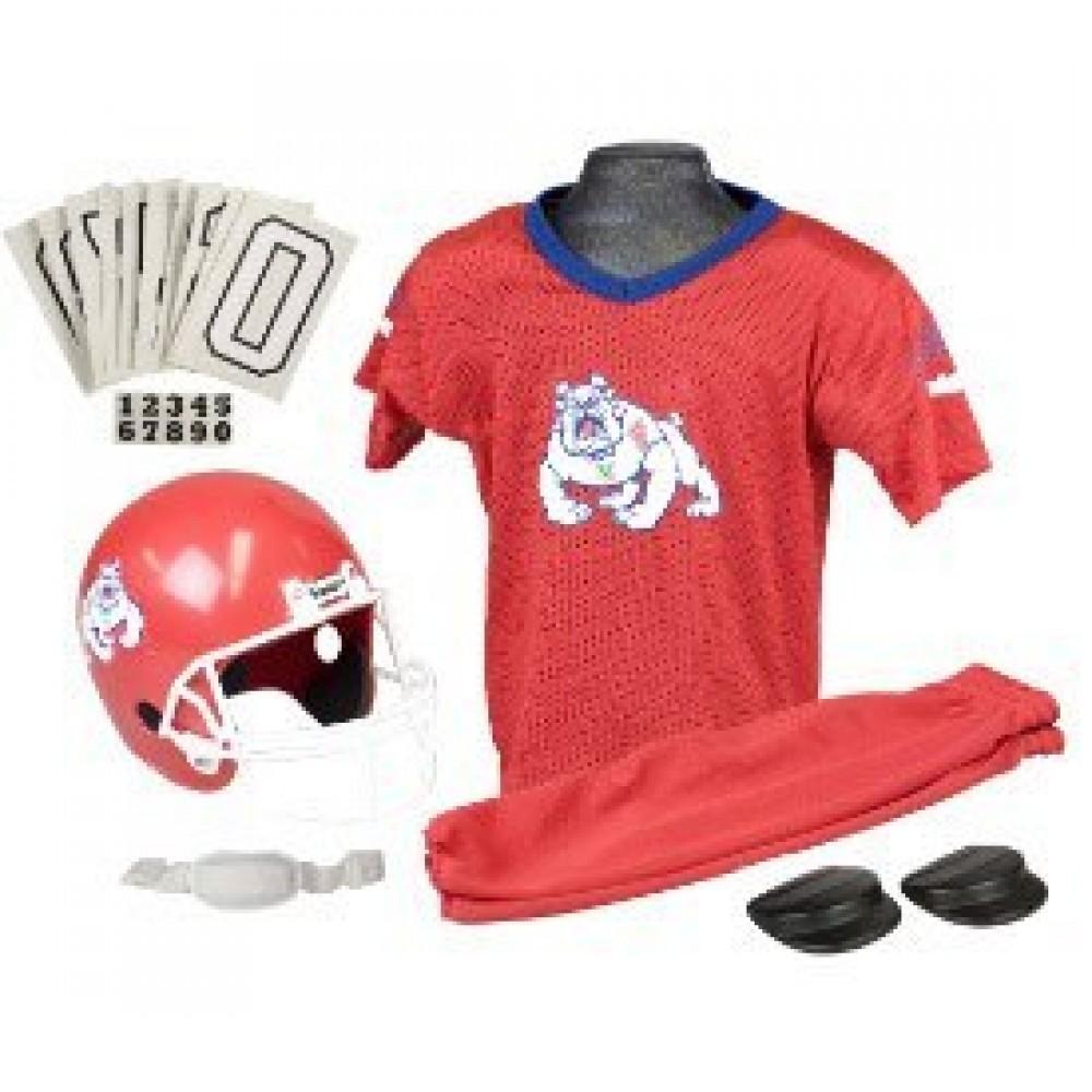 Fresno St Bulldogs Kids (Ages 7-9) Medium Replica Deluxe Uniform Set