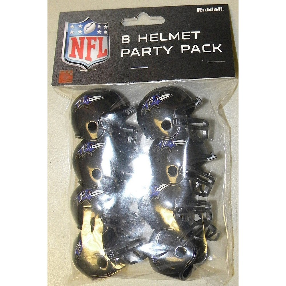 Baltimore Ravens Replica Gumball Party Pack Helmets 8ct
