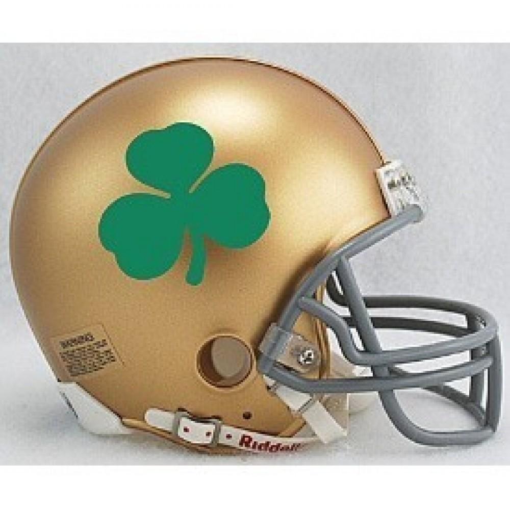 Riddell NCAA Notre Dame Fighting Irish Shamrock Replica Vsr4 Mini Football Helmet