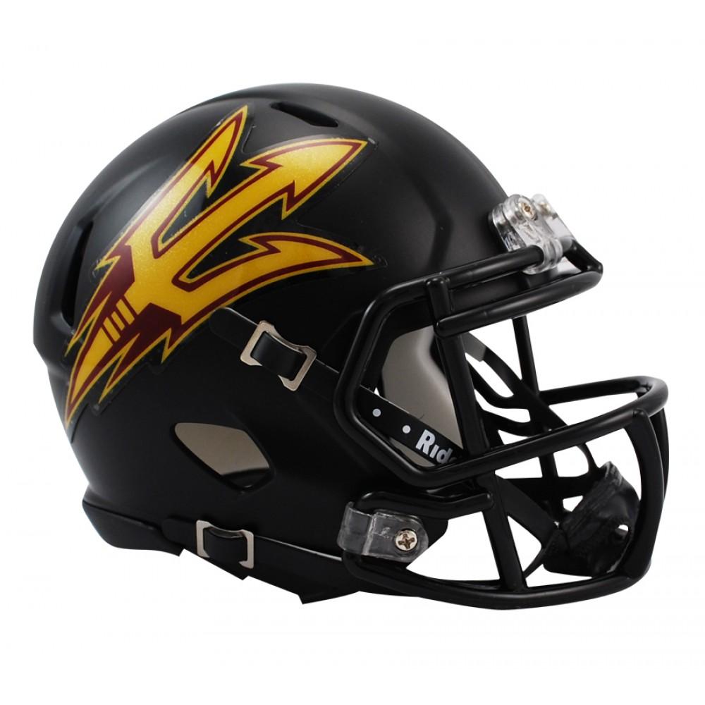 Riddell NCAA Arizona St Sun Devils Matte Black Speed Mini ...