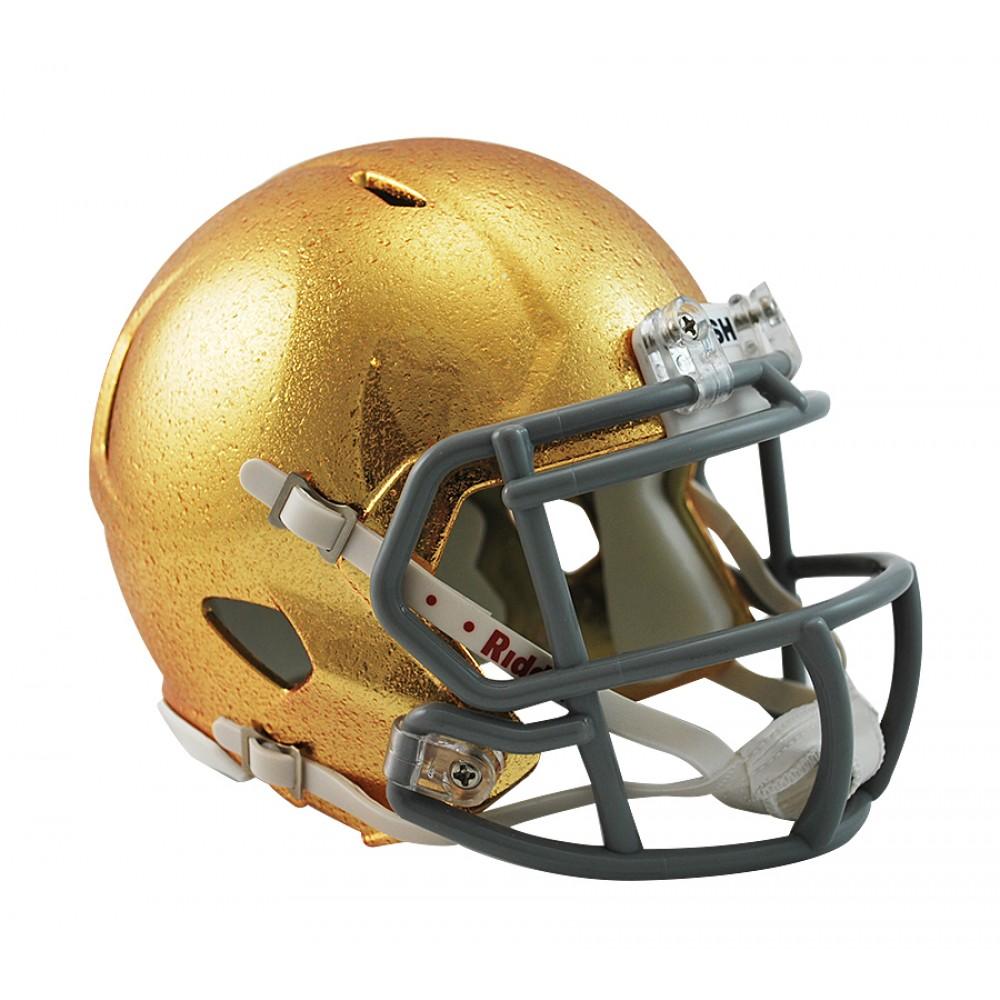 4a0488949 Notre Dame Fighting Irish HydroSkin Revolution Speed Mini Helmet NEW 2013  ...