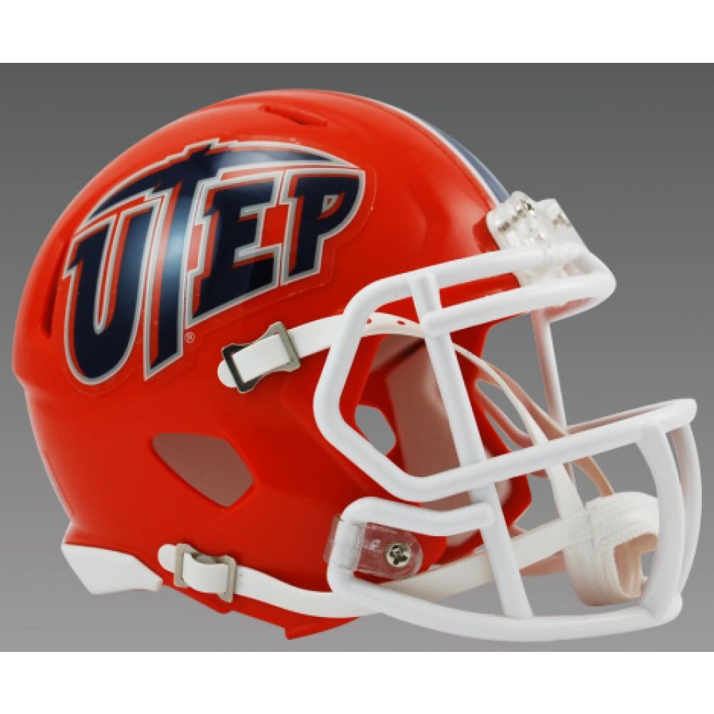Nashville Sales Tax >> Riddell NCAA UTEP Miners Speed Mini Football Helmet