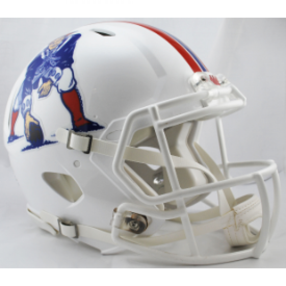 Riddell NFL New England Patriots White Revolution Speed Authentic Full Size Helmet