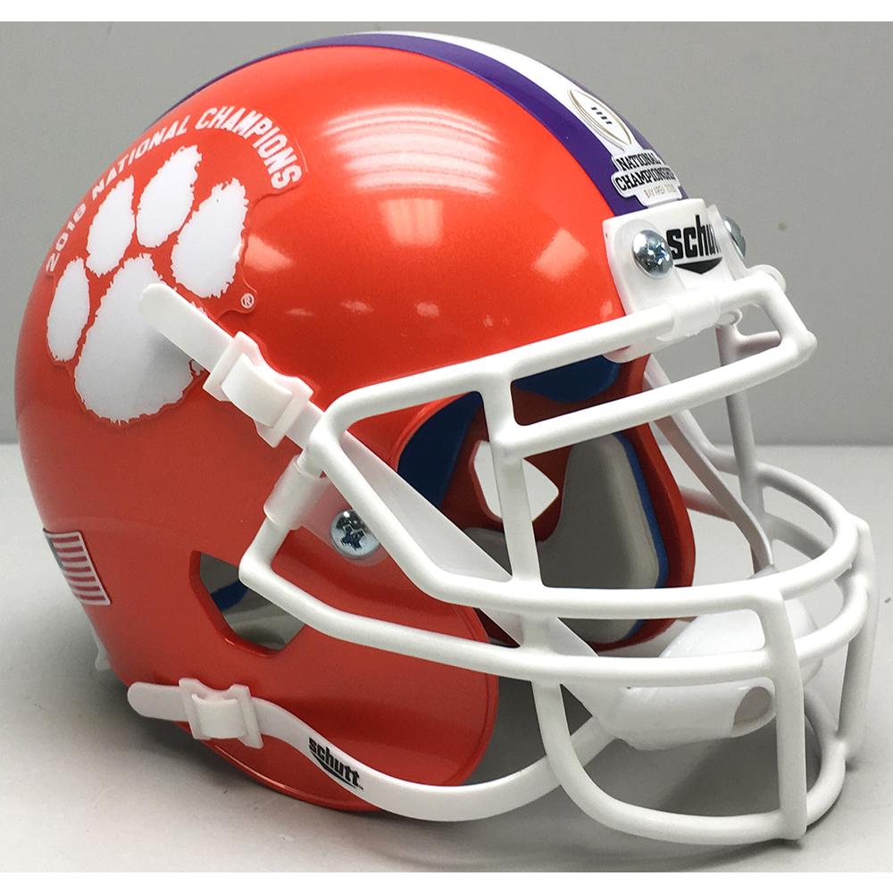 Schutt NCAA Clemson Tigers 2018 National Champions Replica XP Full Size Football Helmet